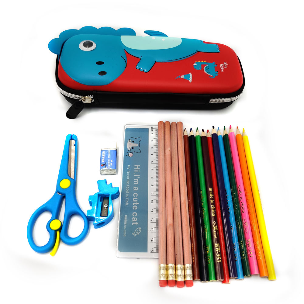 3D Pencil Case Dinosaur Essential Kids Supplies 2020 Back To School Stationery Set