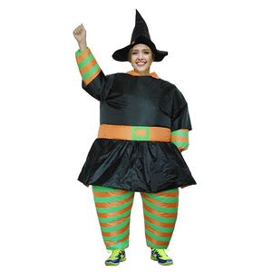 Inflatable black witch halloween costume adult witch costume