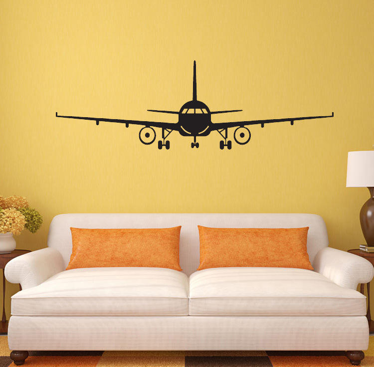 OEM Quality Aircraft Design Pvc Wall Sticker For Children Bedroom