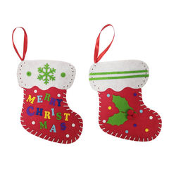 Felt decoration supplies Christmas stocking DIY kit ornaments Christmas Gifts For Kids