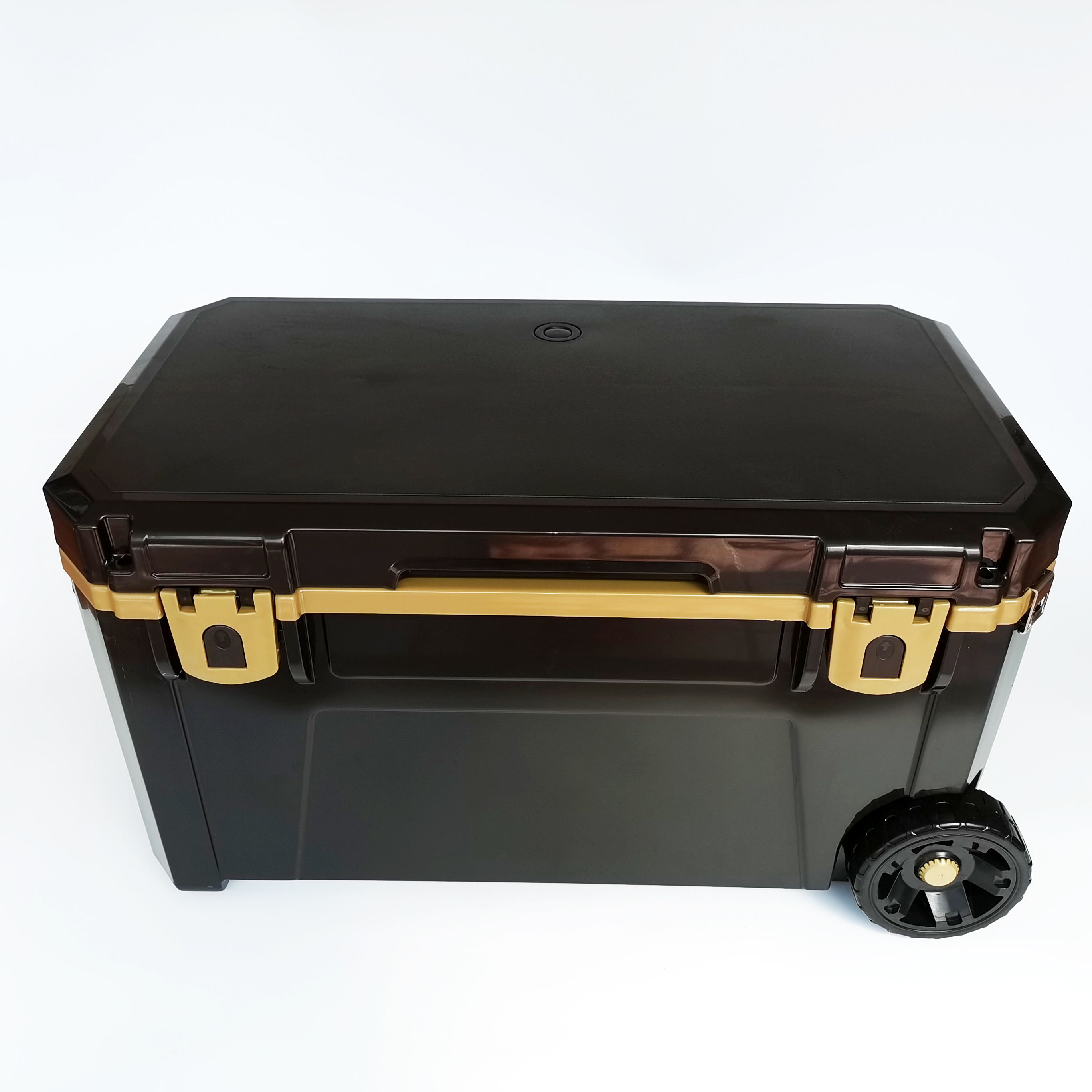 High quality FDA approved Big fishing outdoor cooler box with wheels 200L large plastic cooler box