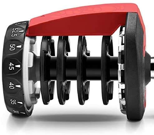 Adjustable Dumbbell Fitness Dial Dumbbell with Handle and Weight Plate for Home Gym Note: Single
