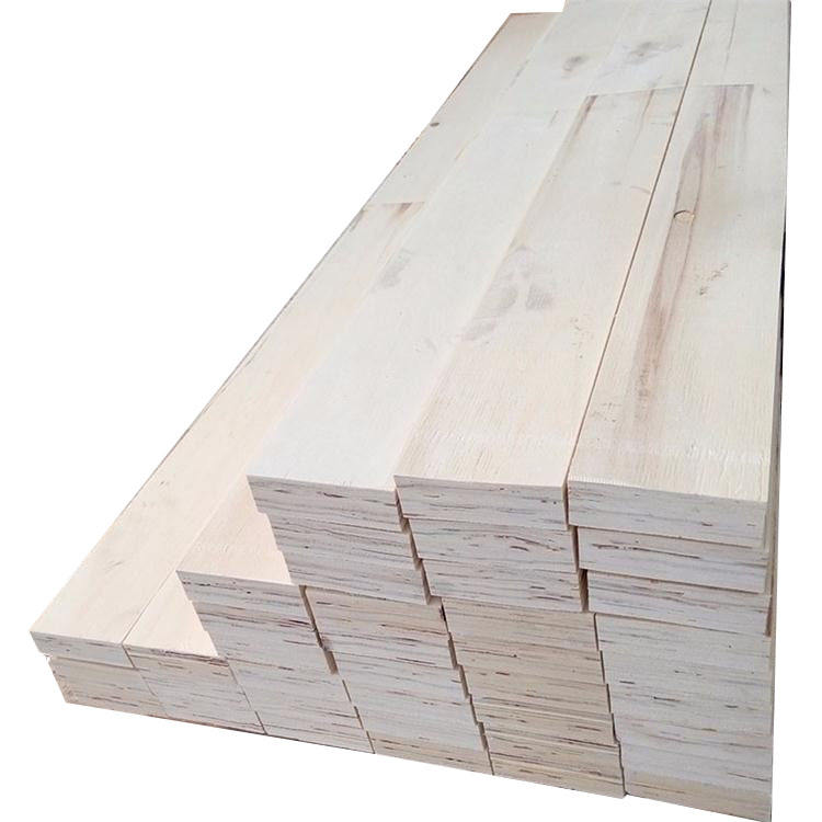 FSC Carb Certificate E0 Poplar LVL plywood timber For Bed Slat Furniture materials