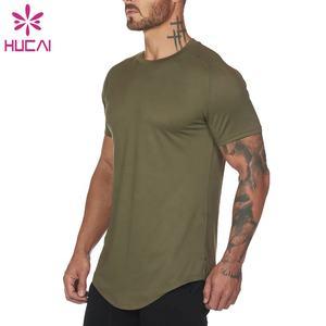 Llano Blanco Camiseta para Hombres Deporte Street Estilo Casual poliéster de tacto suave gimnasio Tees