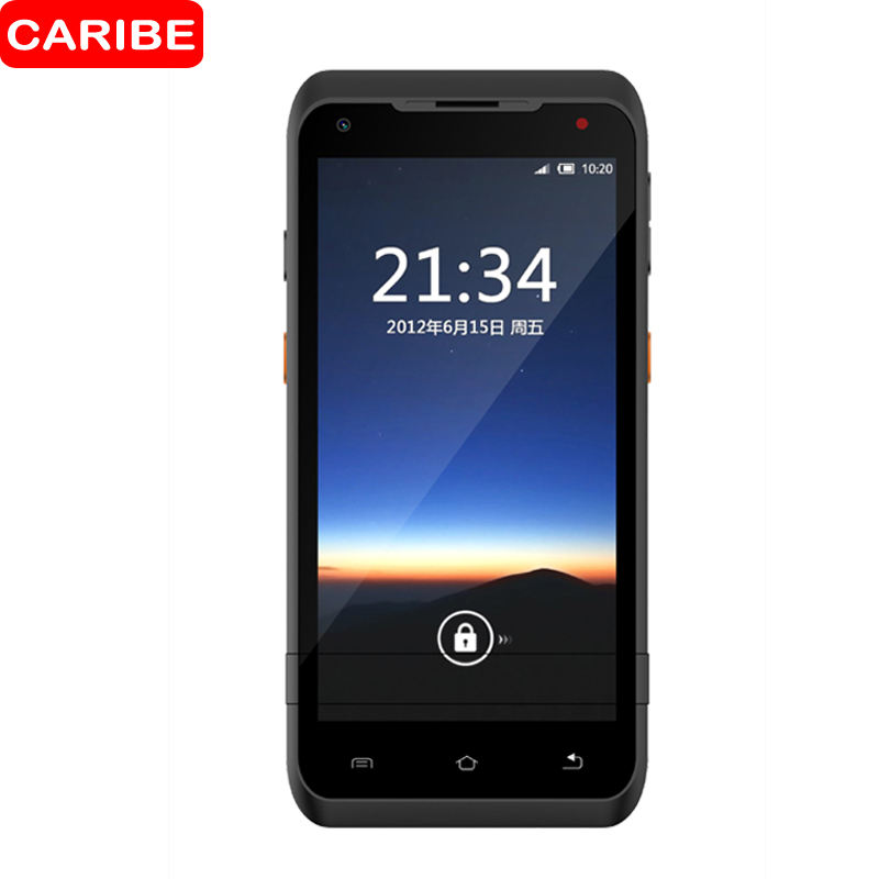 CARIBE Android 8.1 PDA Rugged Handheld Terminal PDA Data Collector for Warehouse 1D 2D QR Barcode Scanner
