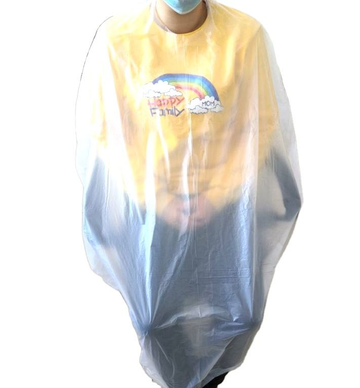 LDPE Hot Sale Cleaning disposable hair cutting capes plastic capes