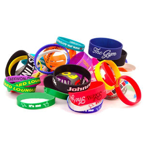 Hot sale custom 2D silicone rubber wristband bracelet for sale