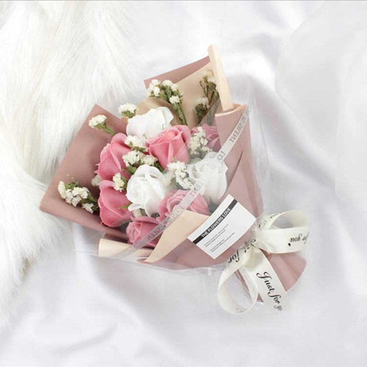 M-1252 Wholesale Creative Mothers Day flower Soap Rose Bouquet Gift