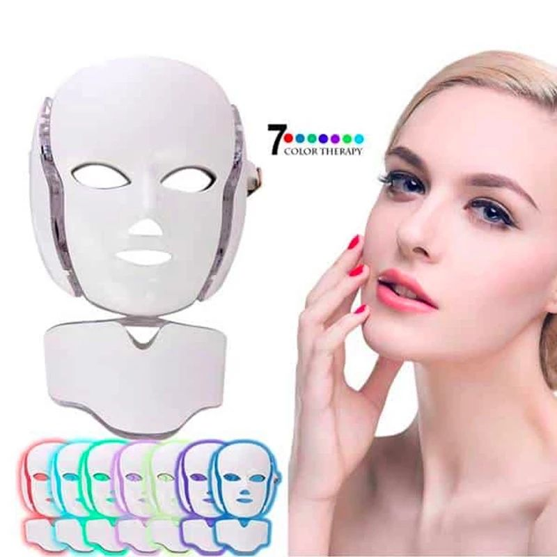 7 Colors PDT Photon Light Beauty Therapy Facial Skin Care LED Face Mask