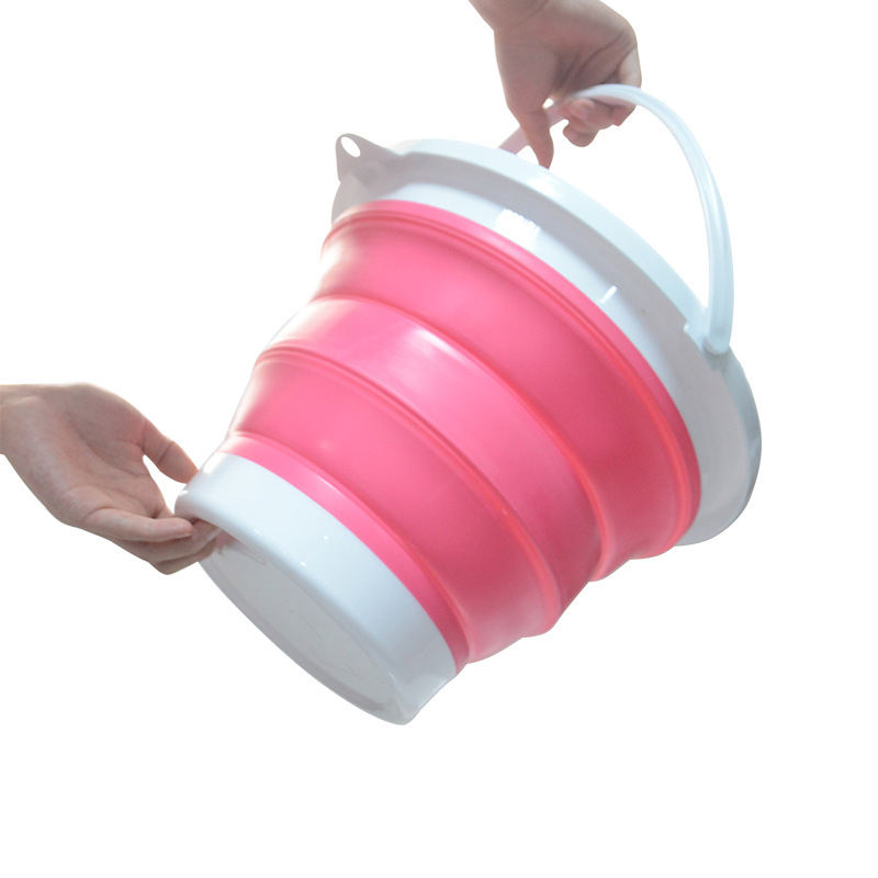 Foldable Collapsible Bucket Camping Fishing Household Cleaning Portable Silicone Folding Bucket