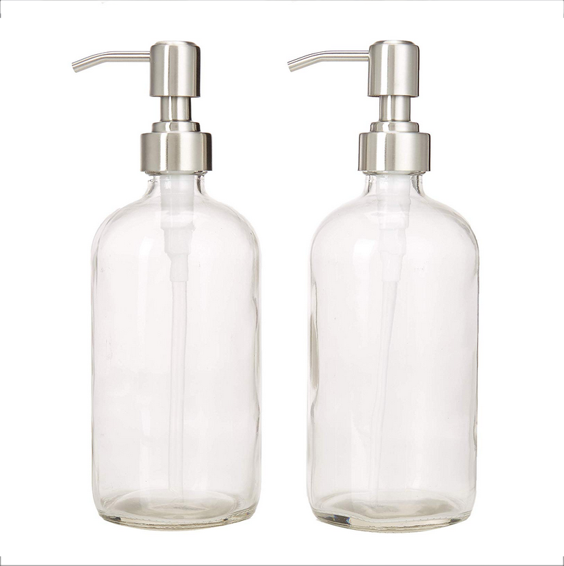28mm-400 stainless steel pump soap dispenser for boston round bottle