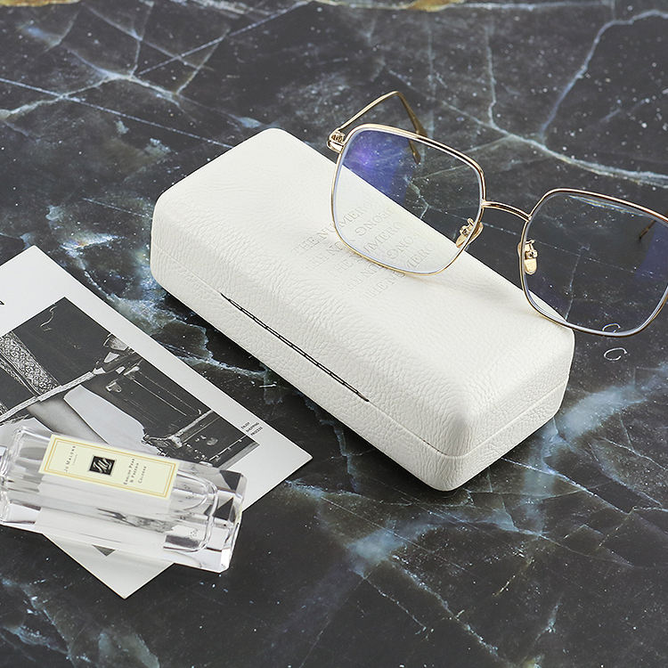 Wholesale ready stock designer sunglasses PU leather glasses fashion personalized eyeglasses case hard