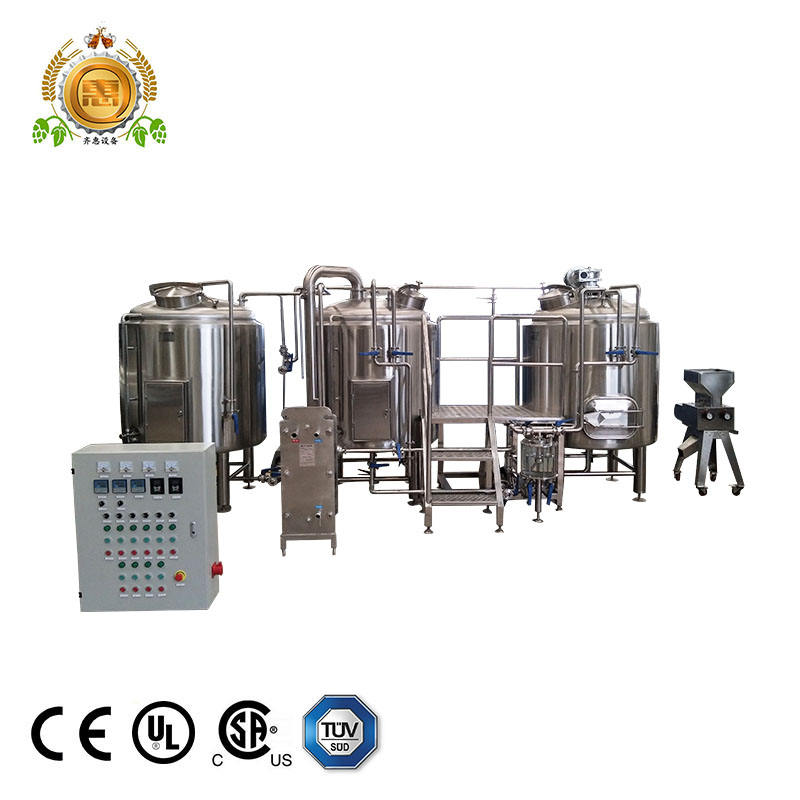 500l per batch micro brewery beer fermenter with cooling for tap room