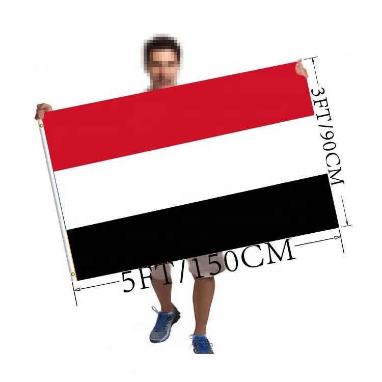Custom 3x5 Foot Yemen flag Polyester Any picture/Print Your Own Logo/ A banner can be customized