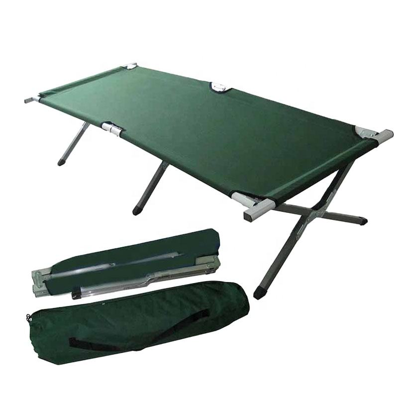 <span class=keywords><strong>Metalen</strong></span> Stapelbed Cot Stalen Frame Slaap Verstelbare Vouwen Bed Draagbare Militaire Leger Outdoor Camping Cot