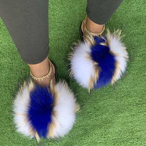Fur slipper for toddlers fox fur slippers real slippers women soft real fox fur slides