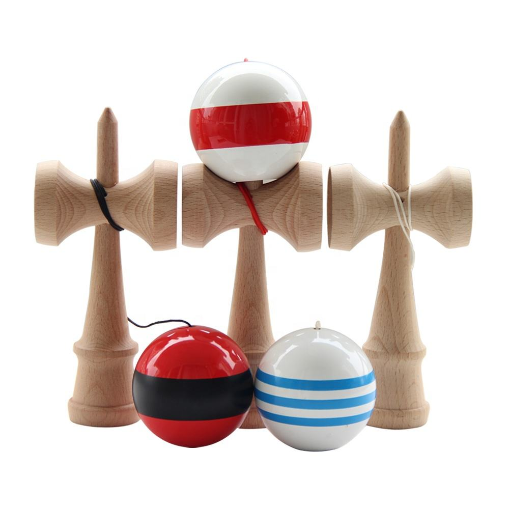 2021 High Quality custom logo color wooden plain kendama