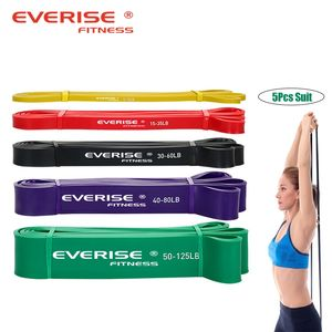 custom latex rubber heavy pull up resistance exercise power fitness elastic bands set