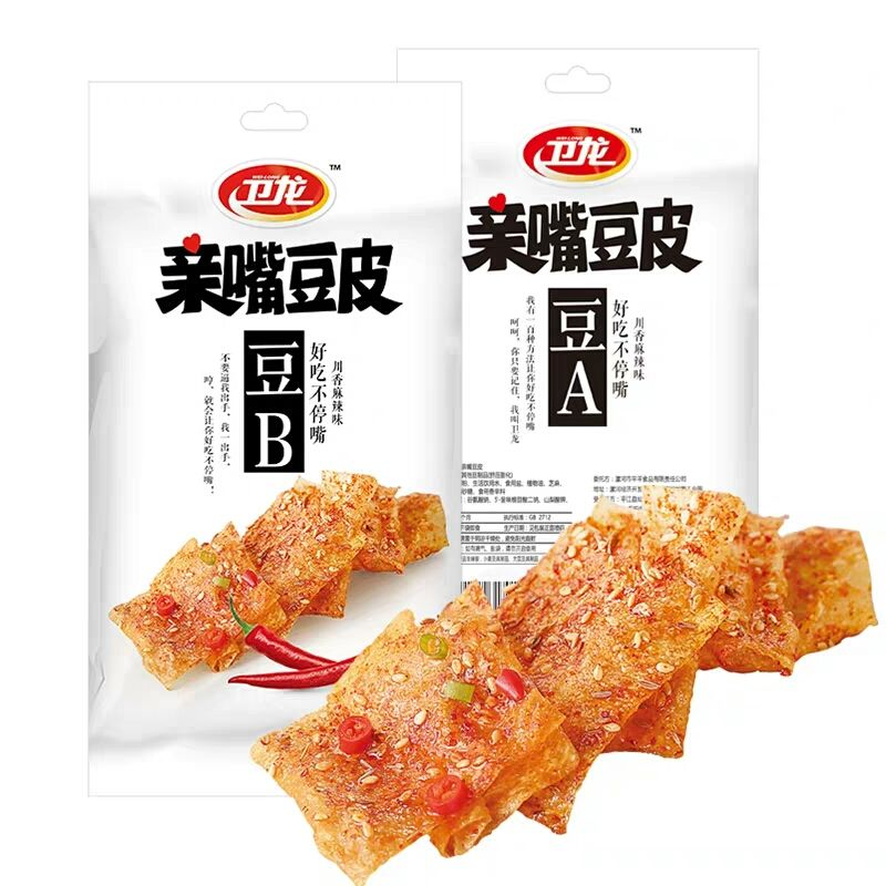 Wholesale Famous Chinese Spicy Snacks Bean Products Snack Food Spicy Hot Beancurd Skin