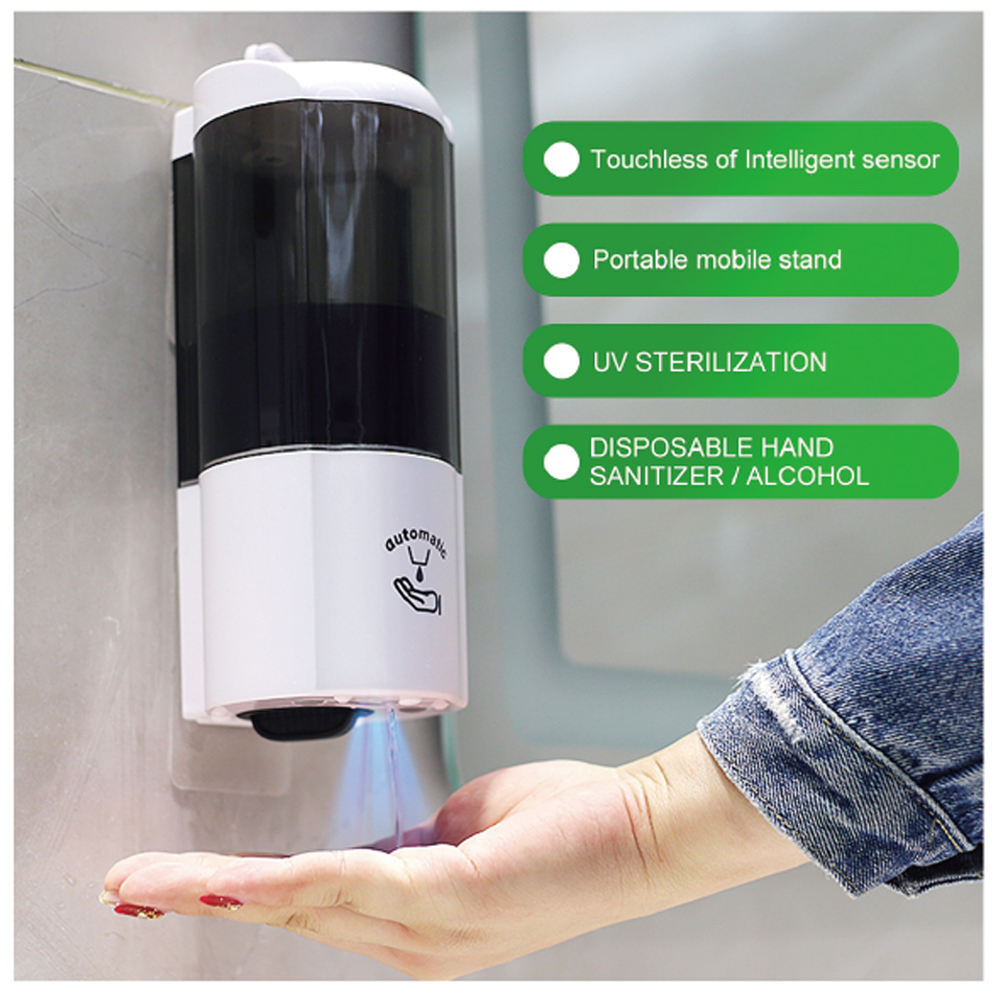 Metal [ Dispenser Drip Tray ] Automatic Soap Dispenser Stand Electric Automatic Soap Dispenser Hand Sanitizer Auto Liquid Foaming Soap Dispenser Adjustable Metal Floor Stand With Drip Tray
