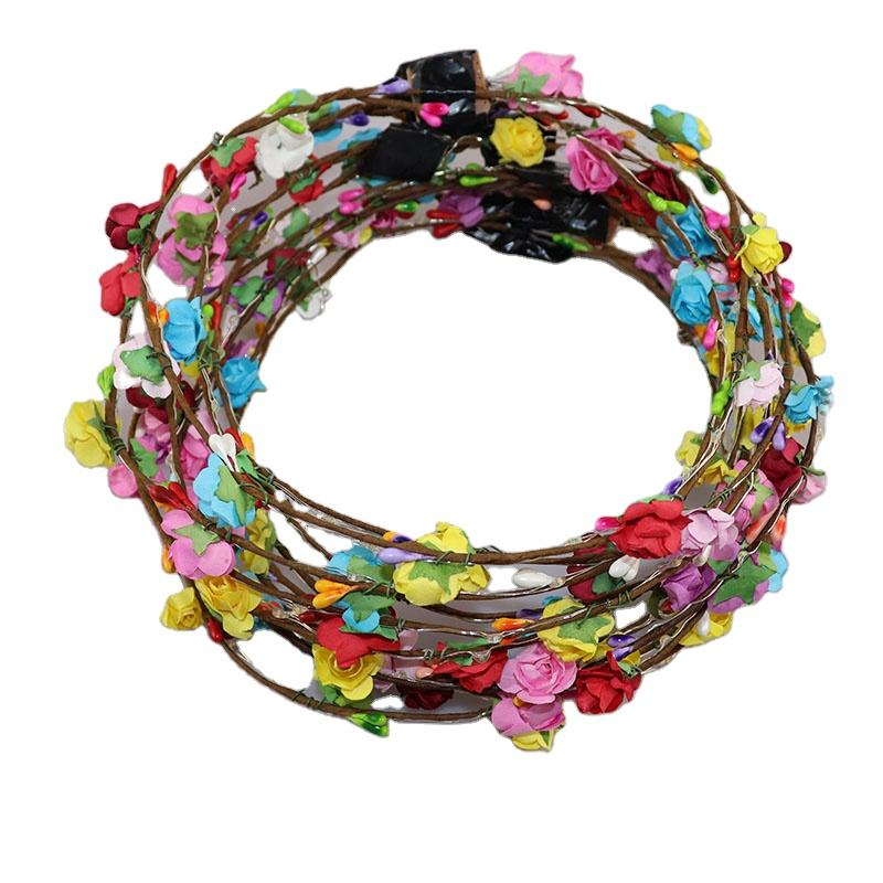 Flashing LED Hairbands strings Glow Flower Crown Headbands Light Party Rave Floral Hair Garland Luminous Decorative Wreath