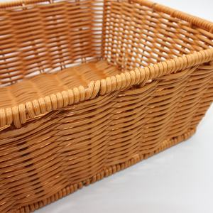 PE rattan woven basket handmade storage fruit bread basket