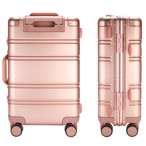 Hot sale pink vintage design suitcase 20 24 Inch Aluminum Frame suitcase carry on luggage sets