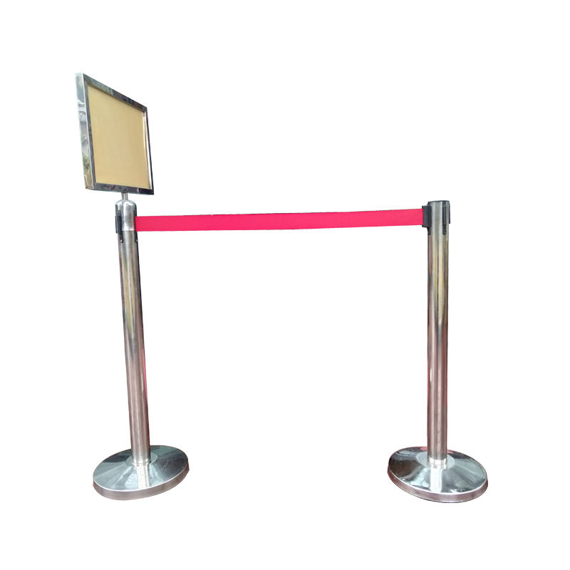 Height 930mm concrete metal crowd control rope pole barrier