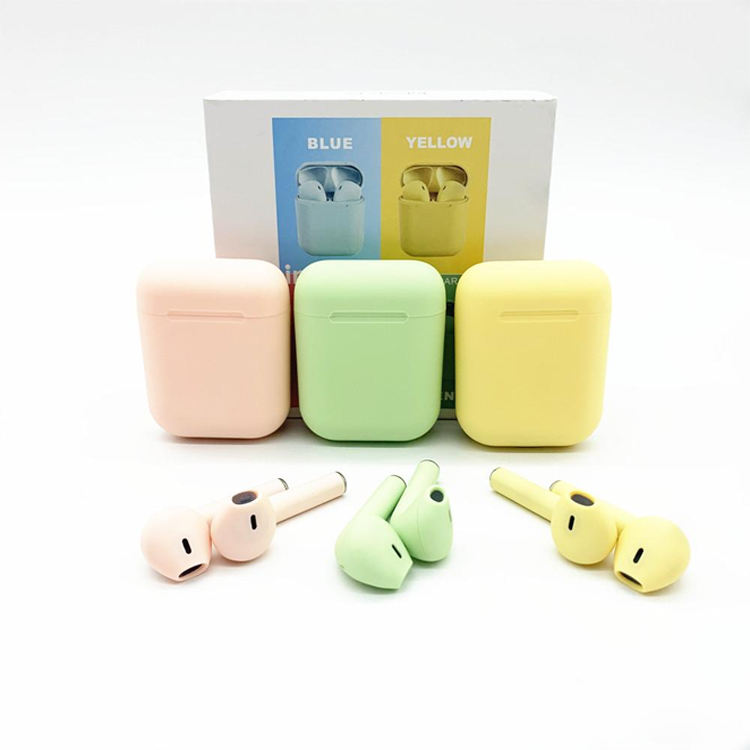 earphone bluetooth headset ipods 12 pro i12 smart earphone blue tooth outdoor bt 5.0 sport tws earbuds