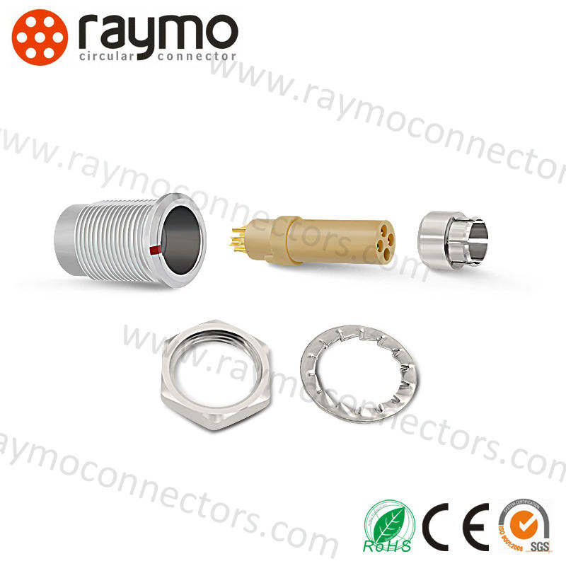 push pull connector circular cable connector male plug FGG.0B.303.CLAD42Z for power