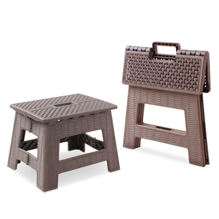 2019 new rattan foldable step stool