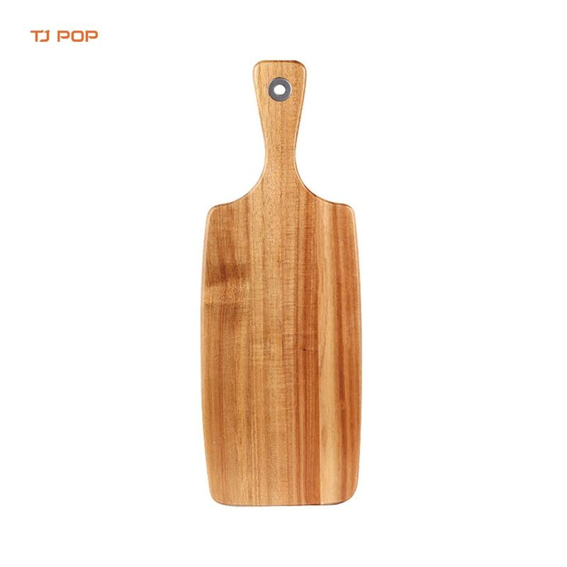 One-Stop Service [ Cheese Board ] Wood Cheese Board Rectangle Shape Cheese Serving Board And Charcuterie Board With Paddle Handle Wood Chopping Cutting Board