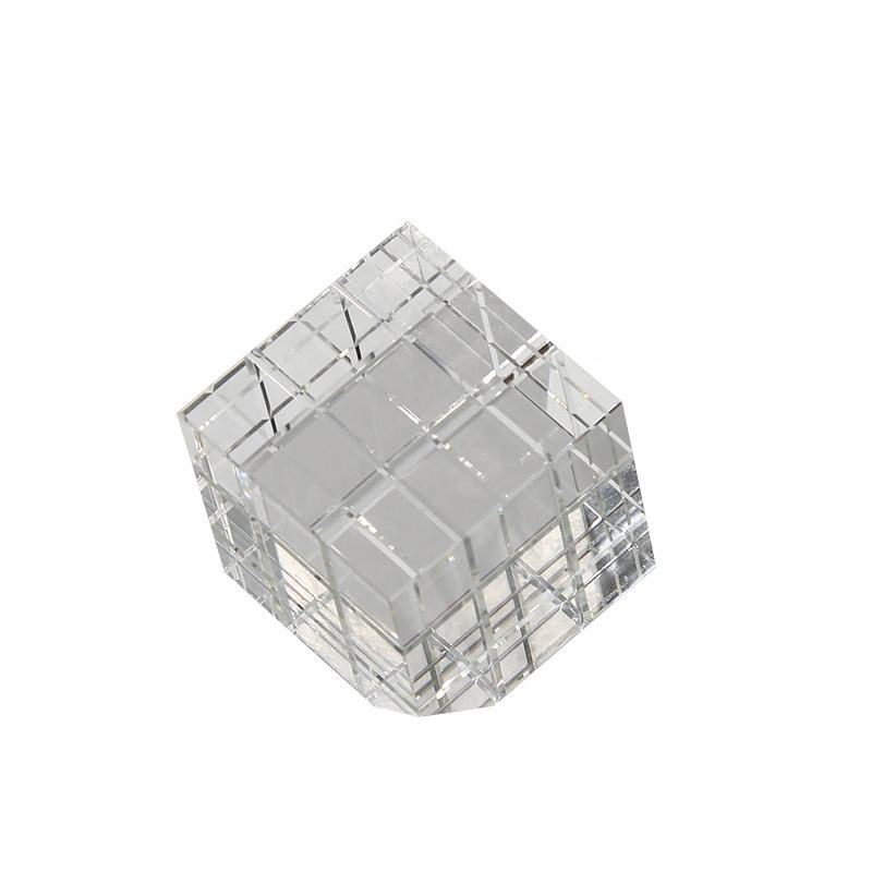 Creative Rubik's Cube glass crystal light luxury accessories