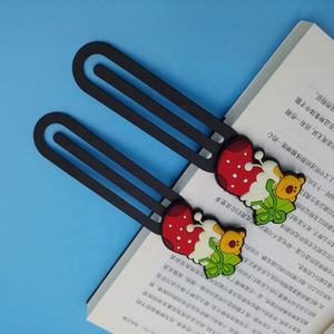 3D Gambar Bookmark Kartun dengan Rumbai Kustom Bookmark Klip Korea Bookmark