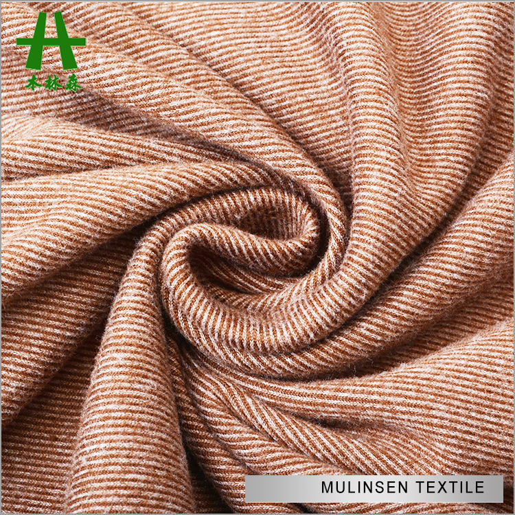 Mulinsen Textile 100% Polyester Elastane Jersey Knit Fabric Fleece P/D for Winter