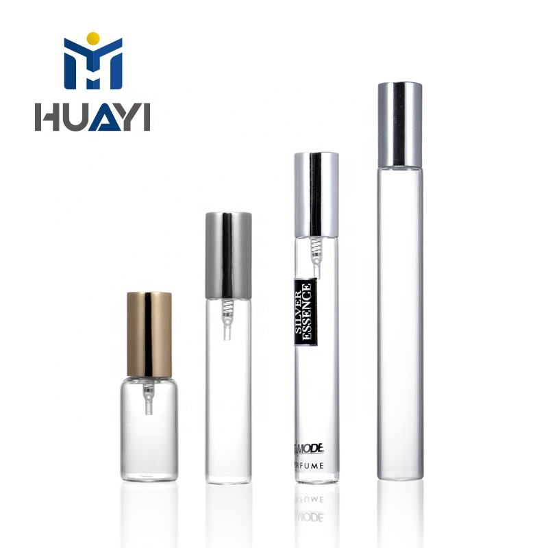 Manufacture HUAYI made crimp neck customized size color tube glass bottle vials