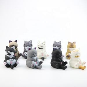 Q331 High quality animal toys for kids 9pcs/set cat toy set for office decoration