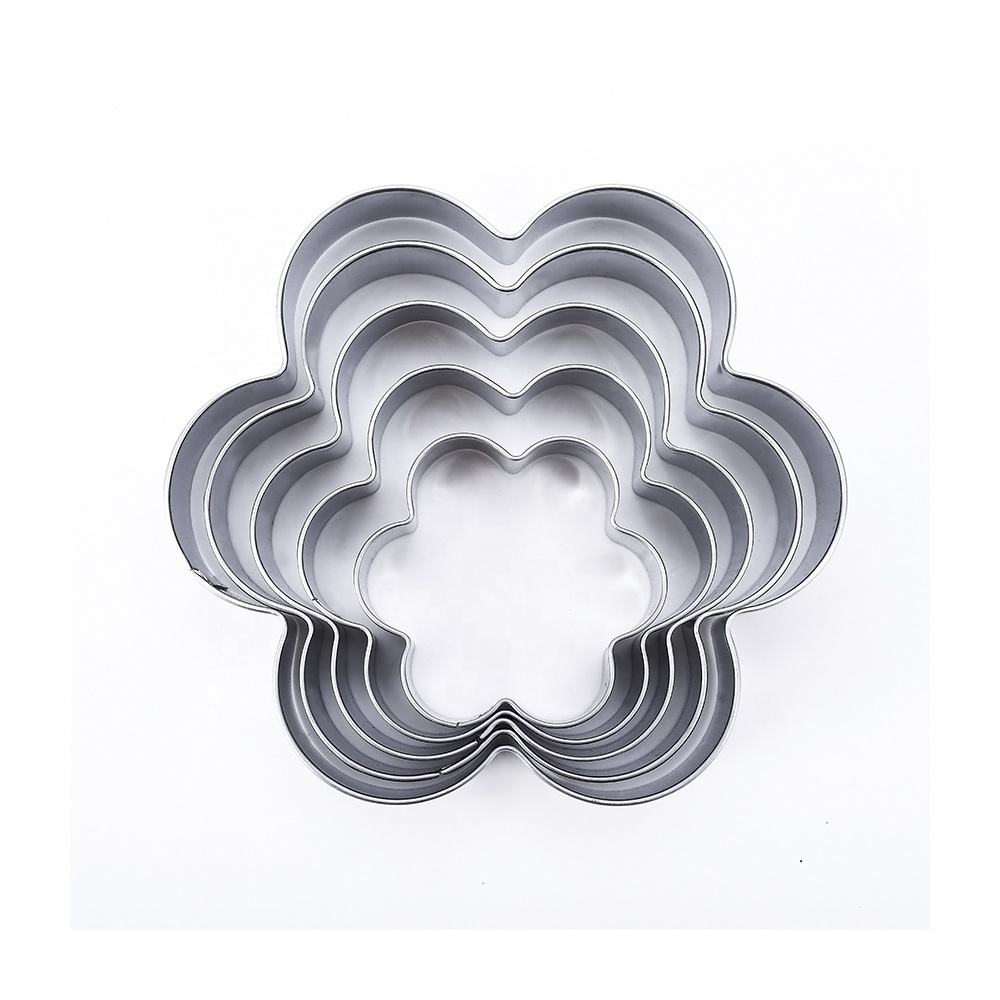 3D Customized Christmas Flower Cookie Cutters Stainless Steel Cookie Cutter Tool Set For Kids