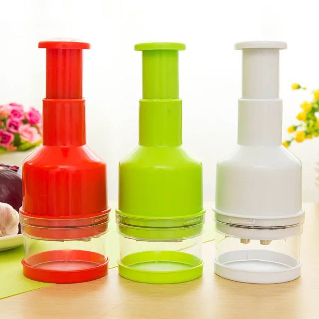 Plastic Manual Food Chopper Vegetable Crusher Peanut Walnut Garlic Onions Chopper Multifunction Kitchen Gadget Easy to Clean