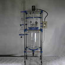 200l glass chemical lined kilo lab glass reflux condenser vessel reactor