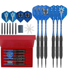 6 Pack Steel Tip Darts Professional Metal Dart Tips Set