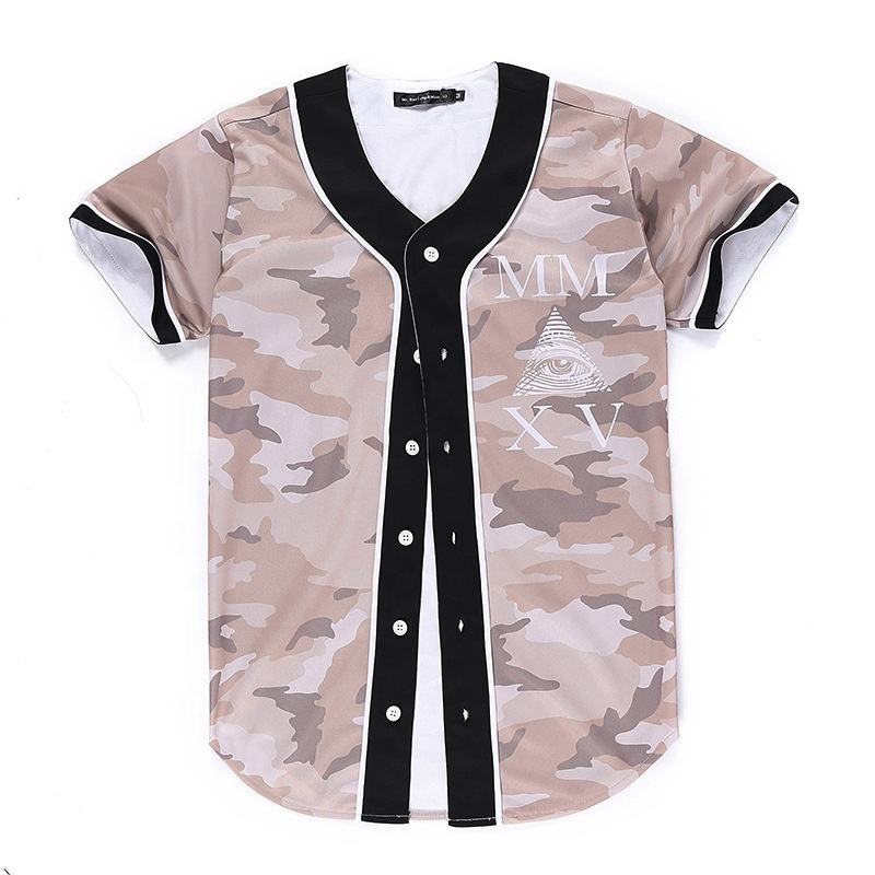 Sublimated camouflage baseball jersey display frame importers