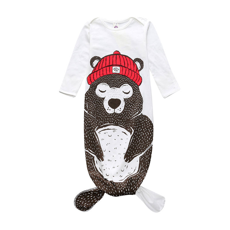 Factory Direct Toddler Knitted Jumpsuit Baby Cartoon Cotton Sleeping Bag Jumpsuit Sleeping Bag Rompers