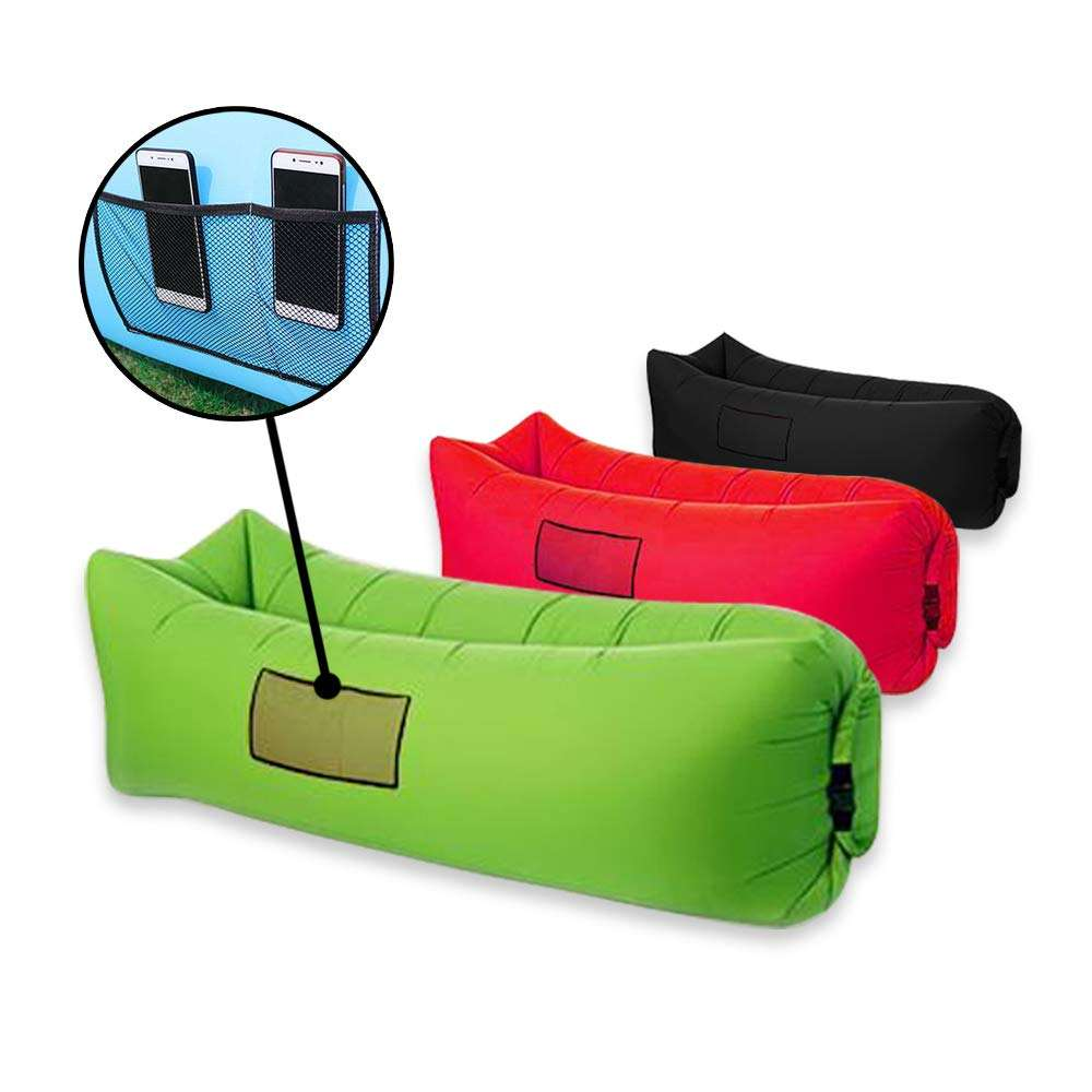 Factory price Beach Lounge lazy bag inflatable sleeping bag Fast Inflatable camping Air Sofa Sleep Camping Bed