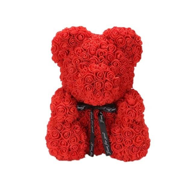 2020 year Hot Sale bear preserved teddy bear rose flower for Valentine's Day arrangements