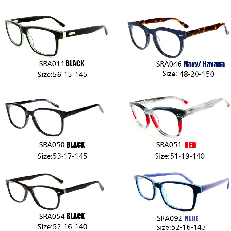 Acetate Glasses Optical Frames Cheap Mixed Models Stock Acetate Optical Frame Glasses Eyewear Wholesale Fashion Eye Wear