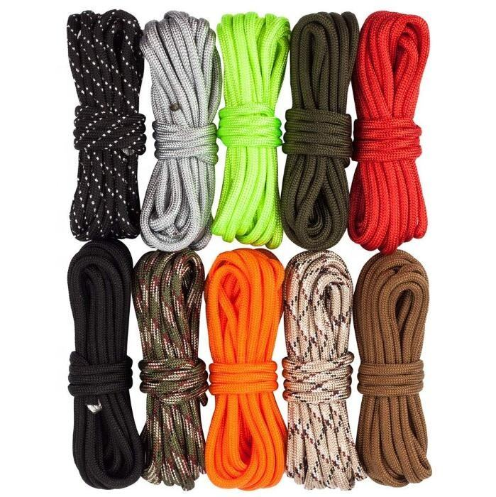 550lb Survival Paracord Combo Crafting Kits, Including 100ft Colorful Straps Buckles 5/32