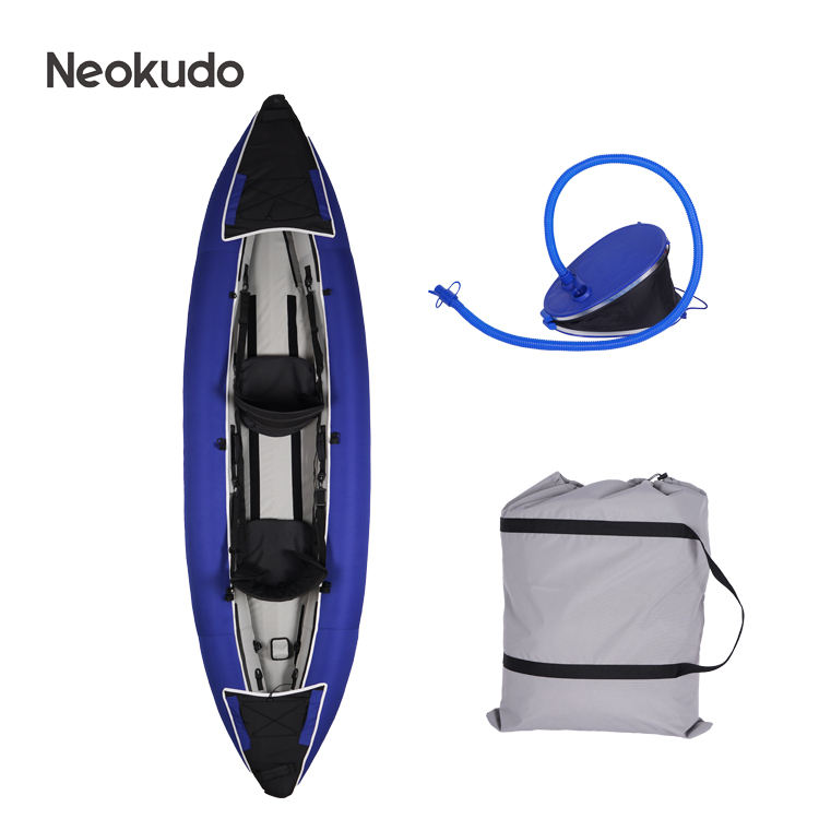 Professional heavy duty coated fabric 2 person inflatable kayak boat