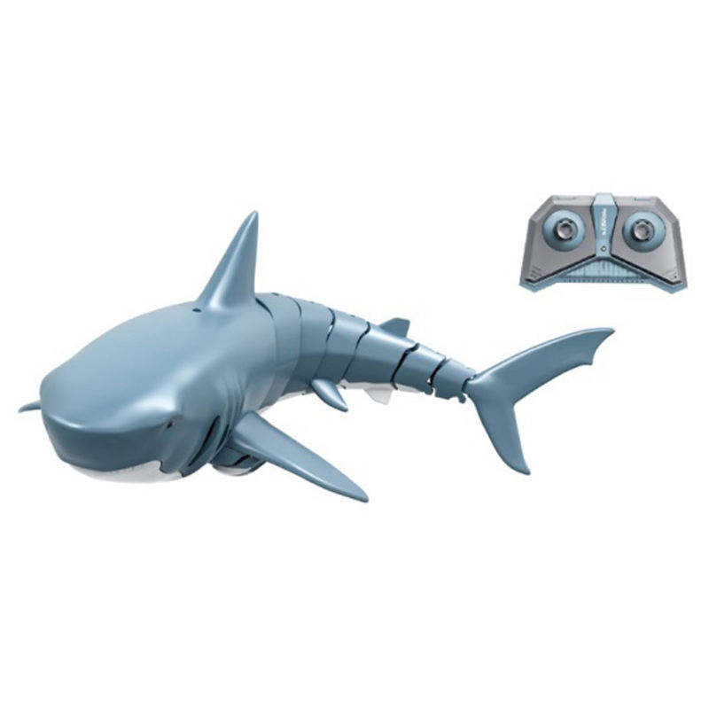 2.4G Simulation Remote Control Boat Toy Kids Electric RC SharkためSwimming Pool r/c Shark-Shaped魚スイング子供のギフトバッテリー