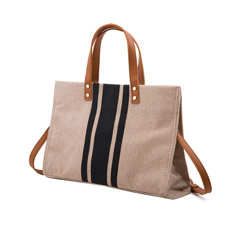 Leather Handle Cotton Canvas Tote Bag Custom Amazon Ebay Hot Sale Pouch
